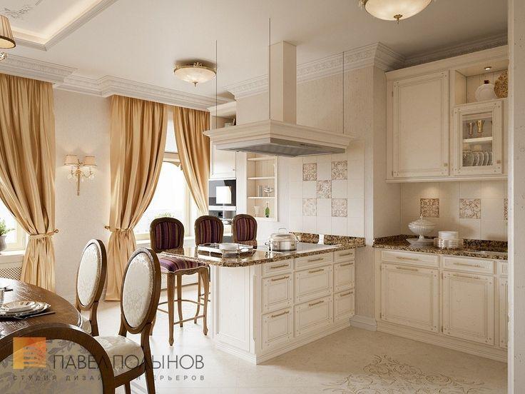 Фото: Дизайн кухни-столовой - Квартира в классическом стиле, ЖК «Привилегия», 135 кв.м.