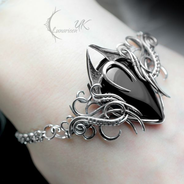XYCTRIS - silver, black onyx, black spinel by LUNARIEEN on DeviantArt