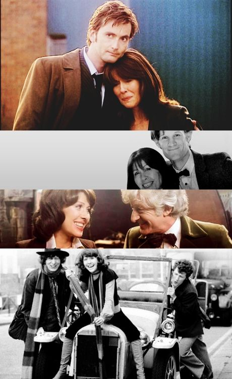 Sarah Jane and her Doctor... all of them. Best companion ever. I miss Elisabeth Sladen.