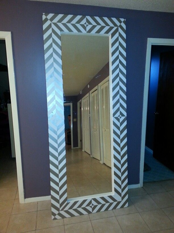 15 best diy floor mirror images on pinterest floor mirrors diy floor mirror final 2 showing shimmer of silver paint solutioingenieria Choice Image