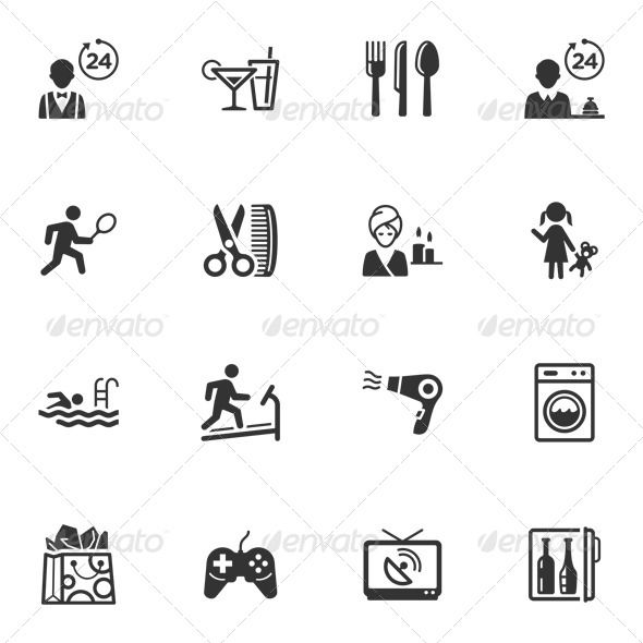 Hotel Services and Facilities Icons Set 2 — Photoshop PSD #mini-bar #tennis • Available here → https://graphicriver.net/item/hotel-services-and-facilities-icons-set-2/4310253?ref=pxcr
