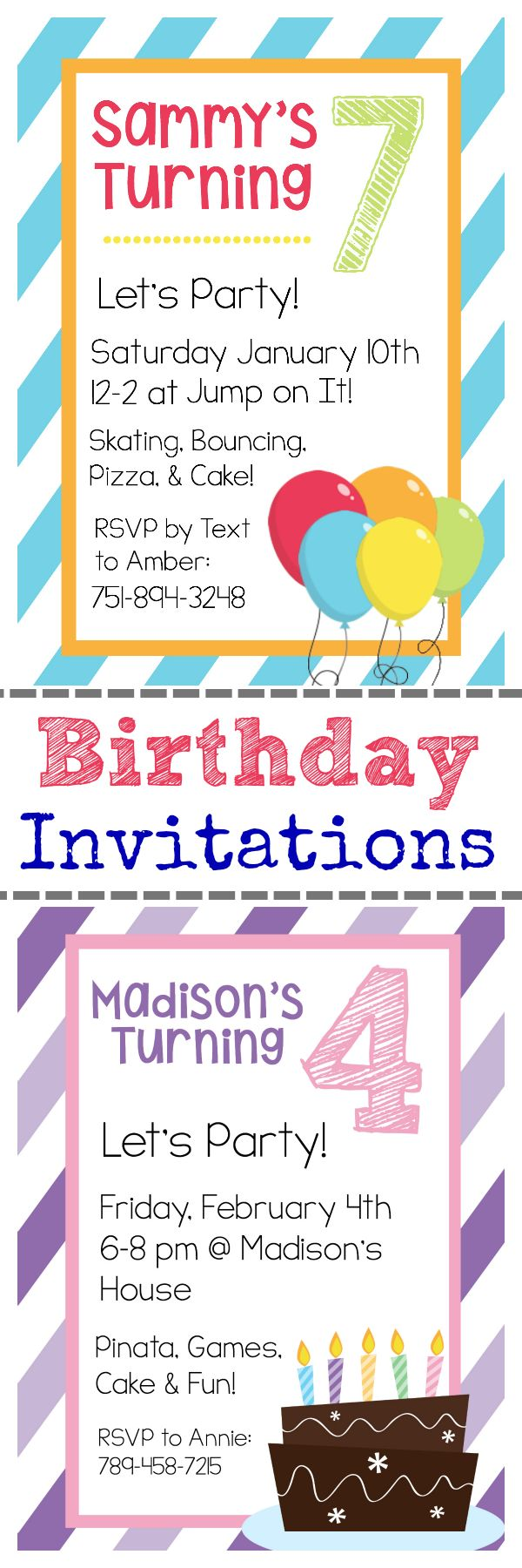 printable birthday invitation templates free