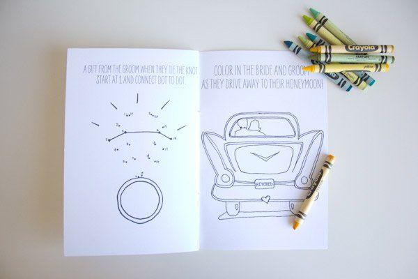 Para los niños Libro de Bodas para colorear