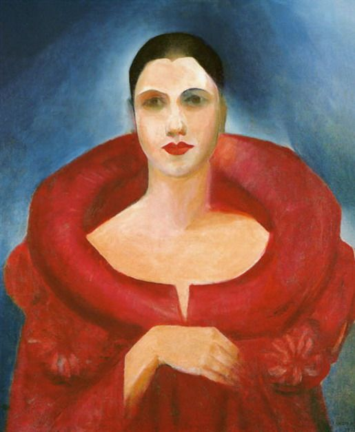 """1886-1973 Tarsila do Amaral. Pintora. Self portrait, 1923    Tarsila do Amaral, known simply as Tarsila, is considered to be one of the leading Latin American modernist artists, described as """"the Brazilian painter who best achieved Brazilian aspirations for nationalistic expression in a modern style."""" Wikipedia"""