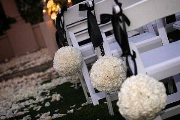 White, Ceremony, Black, And, Flower, Rose, Petals, Chair, An elegant occasion, Padded