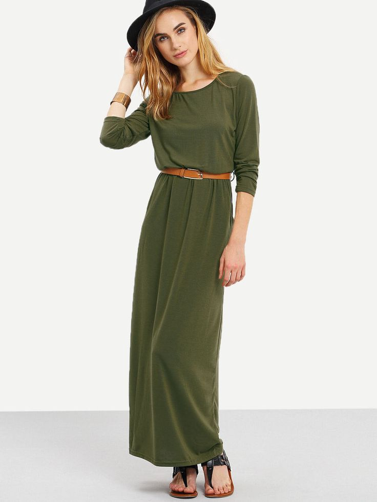 Shop Long Sleeve Pockets Maxi Dress online. SheIn offers Long Sleeve Pockets Maxi Dress & more to fit your fashionable needs.