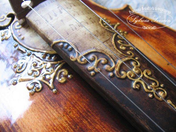 sylwiaserwin.pl - skrzypce decoupage i relief