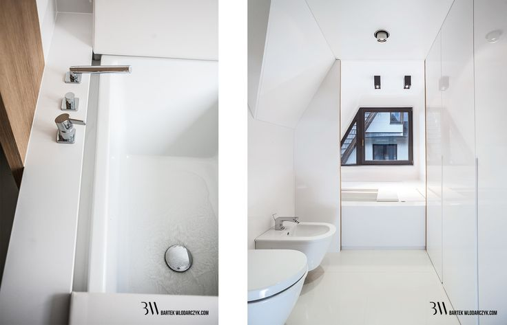 Nowoczesna biała łazienka z wanną Duravit Sundeck oraz bateriami Dornbracht. www.bartekwlodarczyk.com