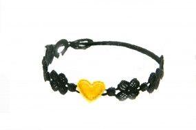 Cruciani Armband You Star schwarz gelb