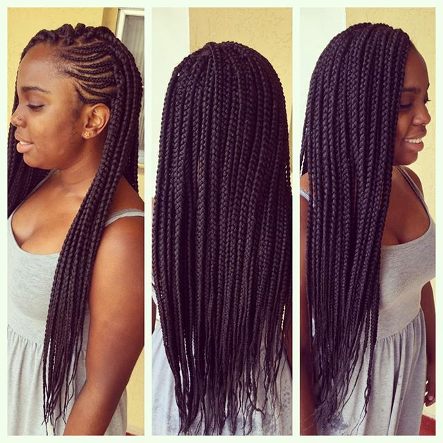 Love this idea with freestyle braids.