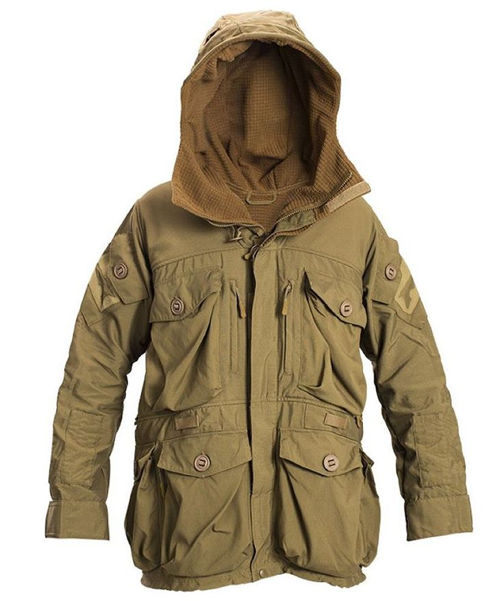 The Squadron Smock is considered to be the big brother to the Wind Cheater. The high quality materials used in this garment provide the user exceptional cold weather / wind performance and the generous sizing in the body and sleeves allows for layering underneath. 18+ pockets allows you to turn the entire jacket into a load carrying platform. The oversized hood fits well with Helmets and most nvgs, a wire stiffened hood provides a custom fit.