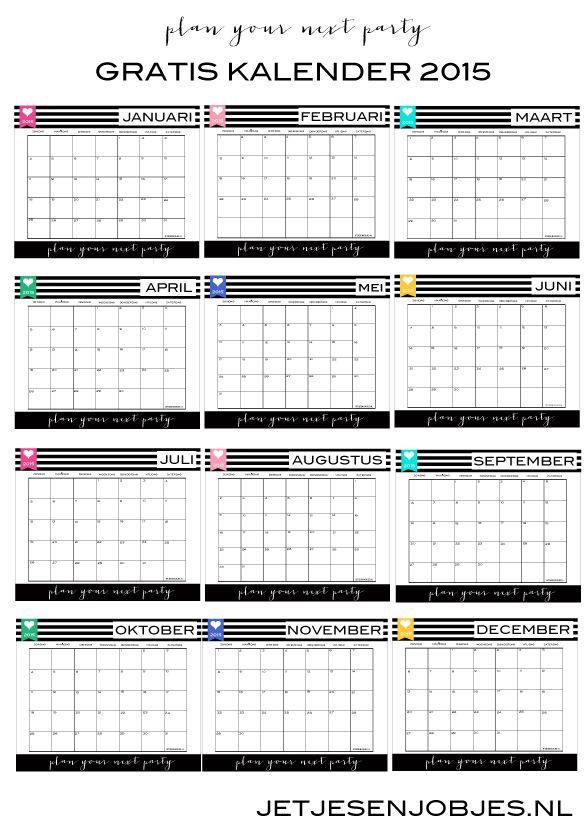 Stunning Gratis kalender printable Download hem hier