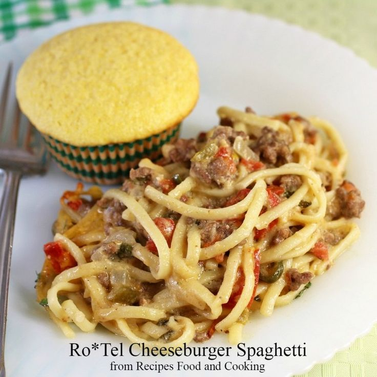 77 Delicious Cheeseburger Recipes for #NationalCheeseburgerDay: Ro*Tel Cheeseburger Spaghetti