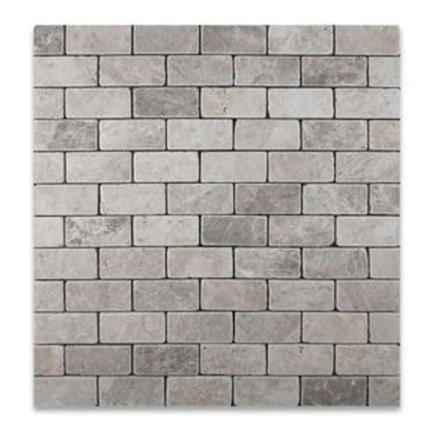 Oracle Tile & Stone Silverado Gray 2X4 Marble Tumbled Mosaic Tile