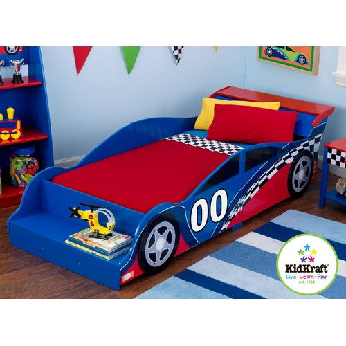 Found it at Wayfair - Racecar Toddler Car Bed