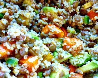 Lentil salad, Bulgur and Lentils on Pinterest