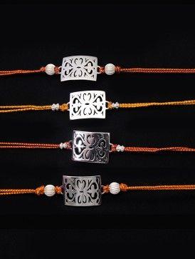 Baroque Silver-Plated Rakhi