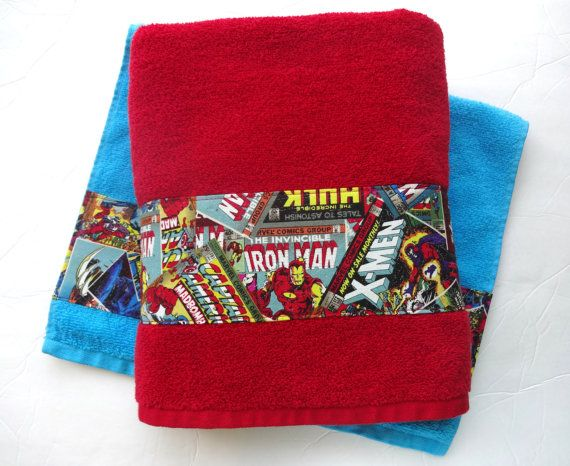 Hey, I found this really awesome Etsy listing at https://www.etsy.com/listing/201539970/comic-book-bath-towels-comics-iron-man