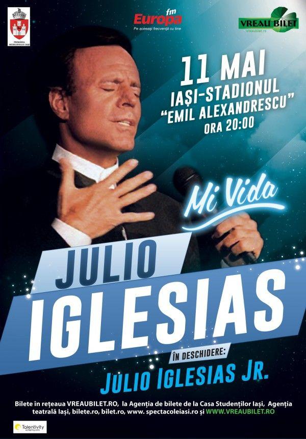 Julio Iglesias, în concert la Iași, alaturi de Julio Iglesias Jr.!