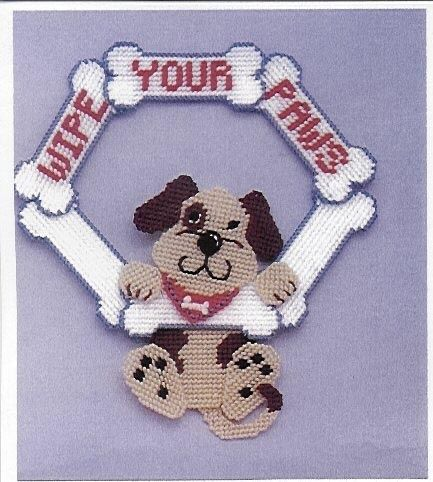 Plastic Canvas Pattern Wipe Your Paws 1/3