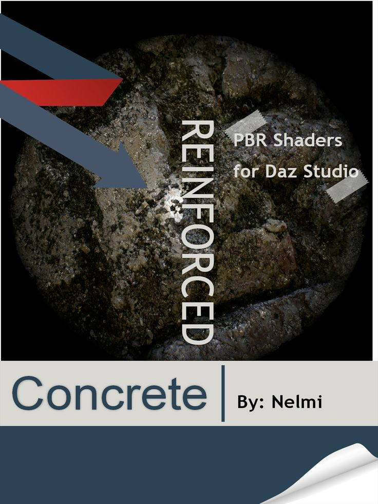 10 Reinforced Concrete PBR shaders for Daz Studio 3Delight. These shaders have been designed from photographs and shader values are PBR based reflecting the physically based materials and calibrated to render proper with 3Delight with the industry standards.  All maps and textures measure 2048 x 2048 in size adding more realism to your renders.  These shaders have a concrete/metal mix and will give your surface a rough yet shiny appearance. If you are looking to re-texturing old models.