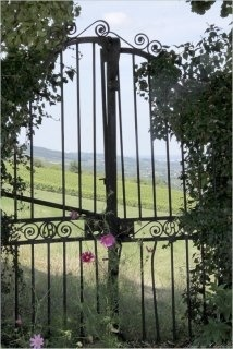 Le portail s'ouvre sur les vignes...