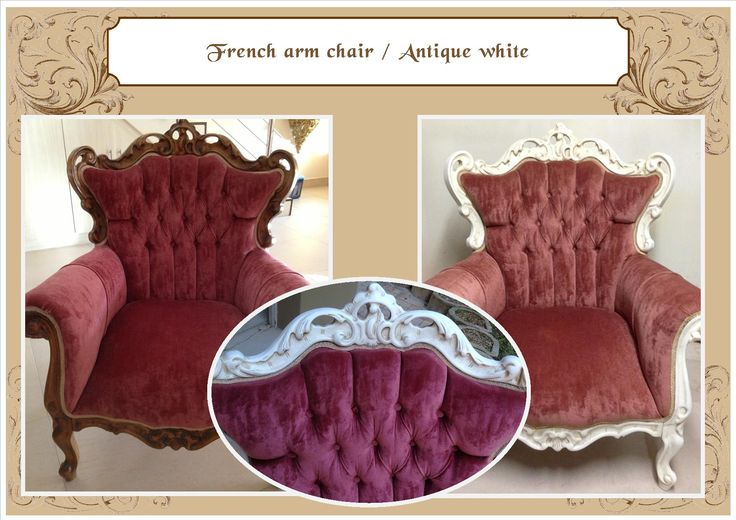 French Armchair in Antique white