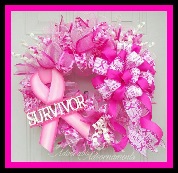 Check out this item in my Etsy shop https://www.etsy.com/listing/245710008/breast-cancer-survivor-wreath-pink