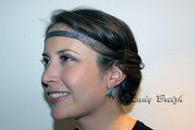Se coiffer avec un #headband #argent comme @LadyBreizh