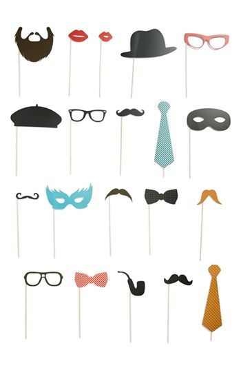 Photo booth props http://rstyle.me/n/freqynyg6