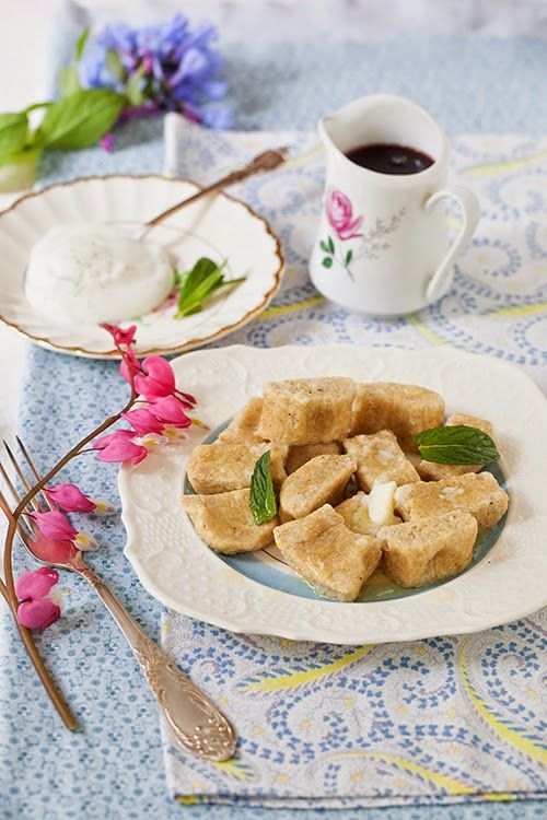 "Russian Monday; ""Lenivie Vareniki"" - ""Lazy"" Vanilla Ricotta Dumplings with Whole Wheat Flour at Cooking Melangery #Russian_food"