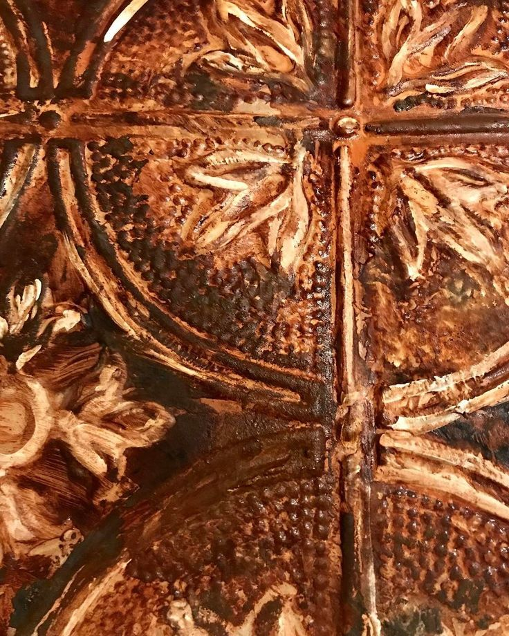 The patina oxidation happening on the Metal Effects Rust Finish... Project by Patricia Presto of On the Surface Design