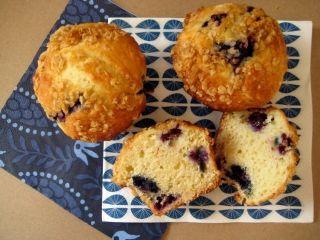 Muffins aux bleuets et citron avec garniture de flocons d'avoine #lunch #collation