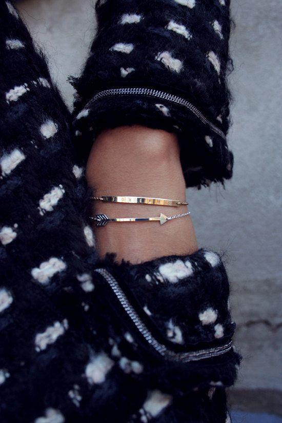 Bracelet or flèche / délicat bracelet flèche / Hunger par shopLUCA