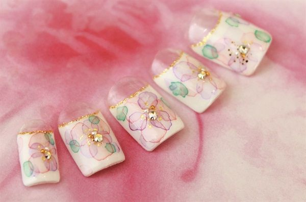1000 images about flower nail art on pinterest nail art - Dreamz salon and spa ...