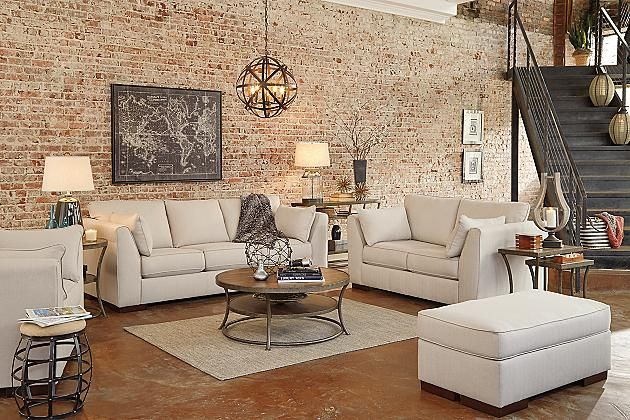 Alabaster Pierin Sofa View 4-our new couch and ottoman