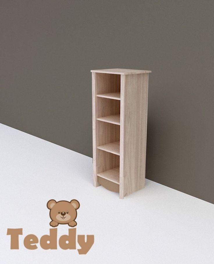 Teddy keskeny nyitott polcos szekrény, Teddy keskeny nyitott polcos szekrény, Zsebi Babaáruház