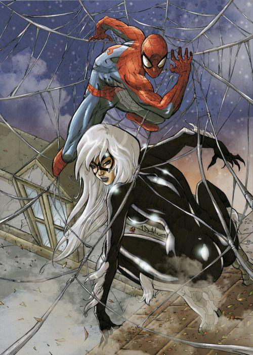 Spider-Man & Black Cat - Pasquale Qualano