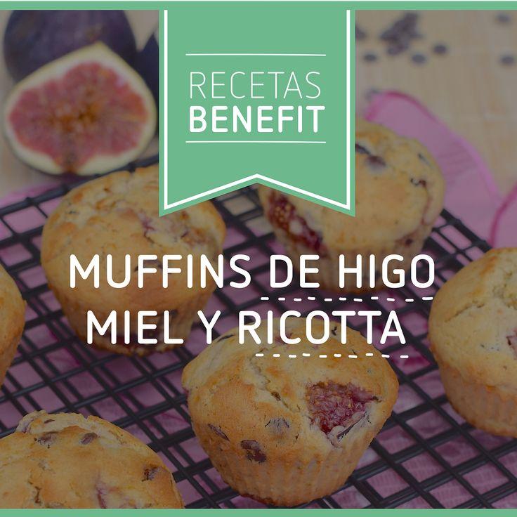 """33 Me gusta, 1 comentarios - BENEFIT Nutrición (@benefitnutricion) en Instagram: """"Date un gusto dulce preparando unos ricos muffins de higos miel y ricotta, con esta receta. ¿Para…"""""""