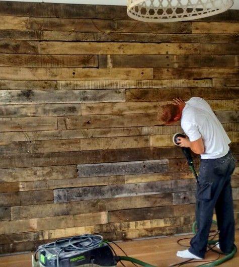 Industrie-hout-muur-schuren
