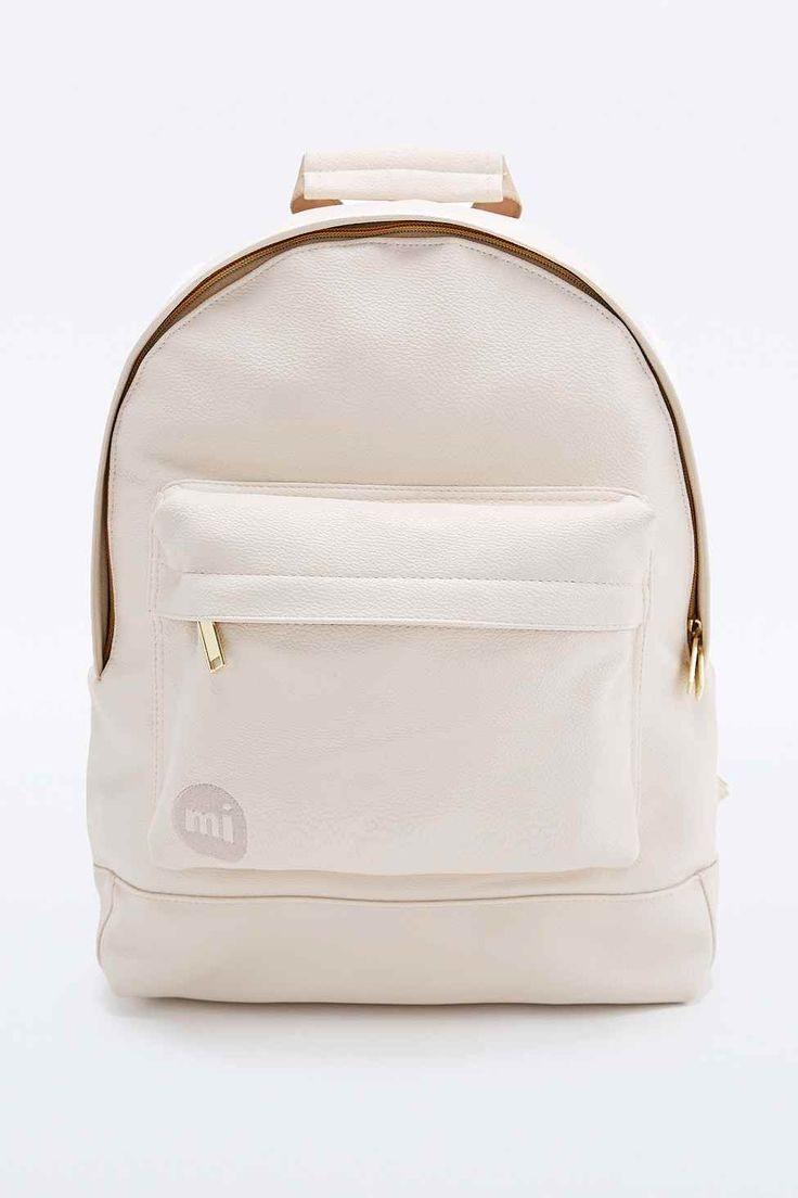 Mi-Pac Tumbled Backpack in Cream