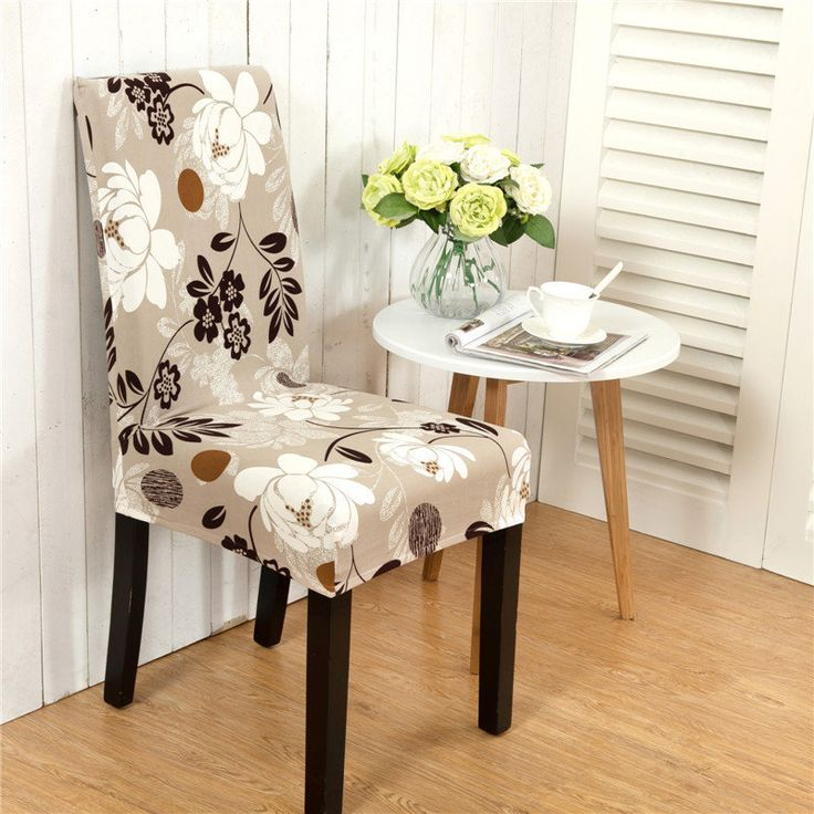 Honana WX 915 Elegant Flower Landscape Elastic Stretch Chair Seat Cover  Dining Room Home Wedding