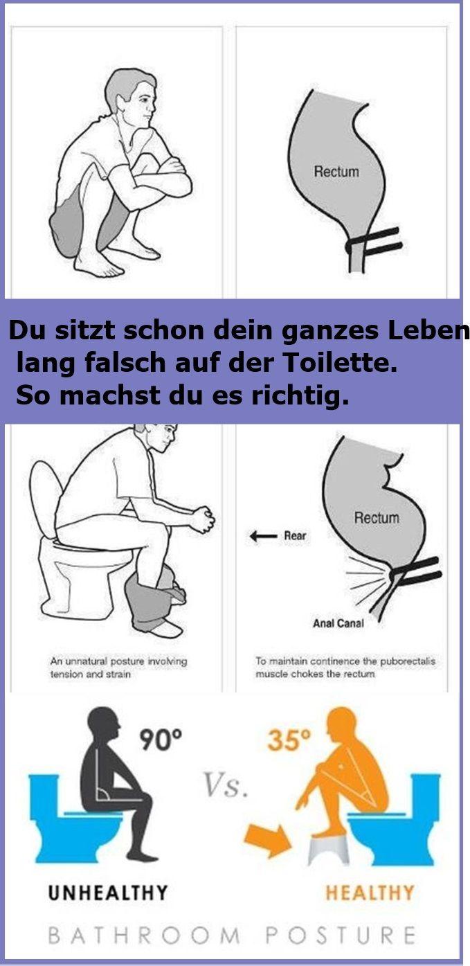 Du sitzt schon dein ganzes Leben lang falsch auf der Toilette. So machst du es r…