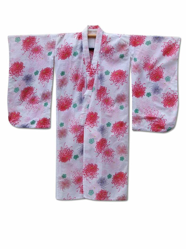 Fuji Kimono #gift idea No.19 ☆ 'Flower Burst' #vintage #Japanese #cotton #kimono - £59. Last posting date Dec 19!  http://www.fujikimono.co.uk/childrens-kimono/flower-burst-.html