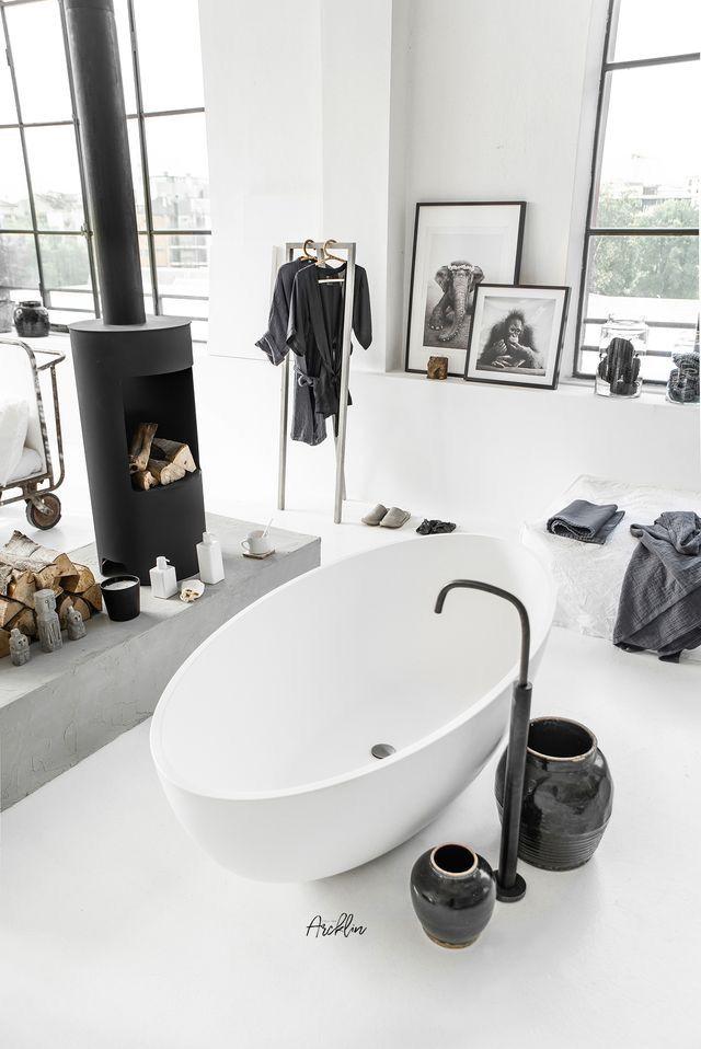 Cocoon Black White Bathroom Design Inspiration Ideas Mirrir
