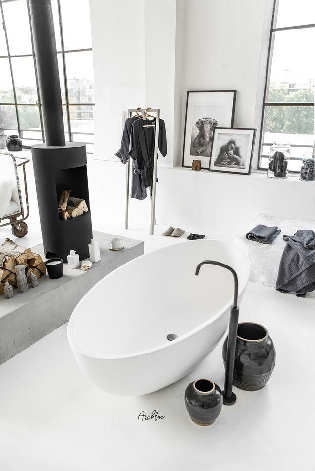 Cocoon Black White Bathroom Design Inspiration Ideas Mirrir Bathtubs Paint Colors Da Bathroom Design Bathroom Design Luxury Bathroom Design Black