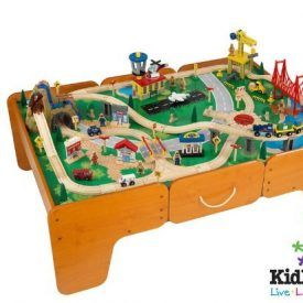 The kidkraft's popular mountain Train set is Much more than a simple set of tracks, this brightly colored wooden transportation system has abundant opportunities for creative and imaginative play. This Train Table & 120 pc mountain train Set would make a fun, colorful gift for any of the young conductors in your life. Kids will […]