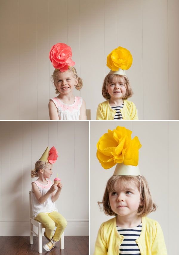 Giant Paper Flower Party Hats DIY | Oh Happy Day!