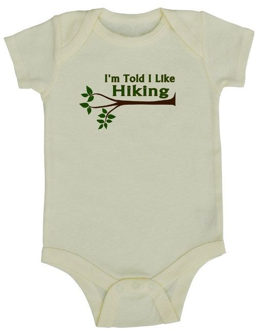 I'm Told I Like Hiking Baby bodysuit Bodysuit Shirt