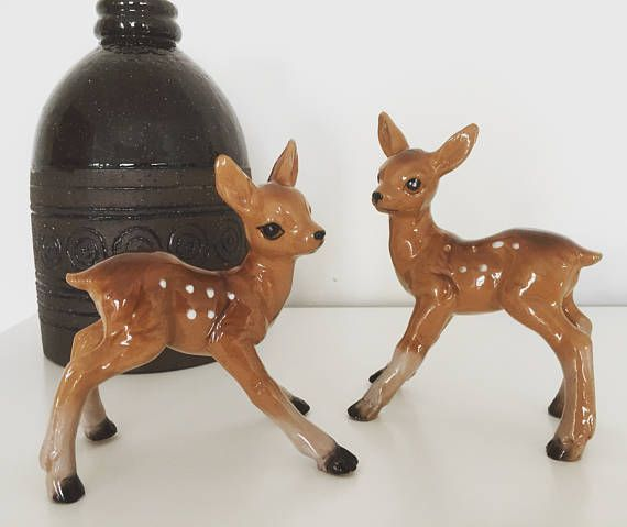 deer/figurines/1950s/perfect condition/pair/Germany
